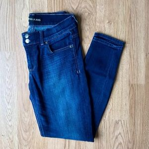 Express Mid Rise Jeans Skinny Pants • Size 8